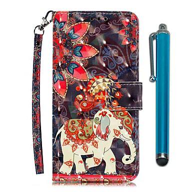 Недорогие Чехлы и кейсы для LG-чехол для lg stylo 4 / lg stylo 5 кошелек / визитница / с подставкой для всего тела феникс слон искусственная кожа