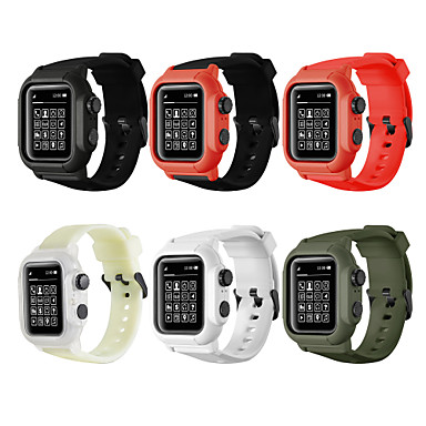 voordelige Apple Watch Cases met band-Case met band Voor Apple Watch Series 5/4/3/2/1 Siliconen / Muovi verenigbaarheid Apple