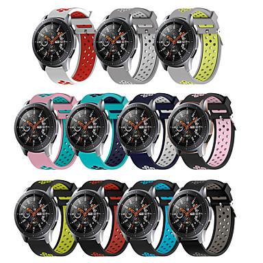 Недорогие Часы для Samsung-22 мм силиконовые браслеты для Samsung Galaxy Смотреть 46 мм передач S3 Frontier классические часы группа дышащий браслет