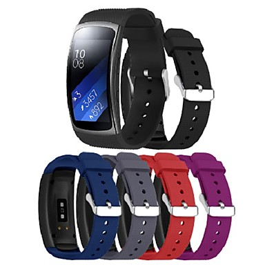 voordelige Smartwatch-accessoires-polsband voor Samsung gear fit 2 pro / fit 2-band sportband siliconen polsband