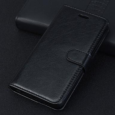 رخيصةأون Xiaomi أغطية / كفرات-غطاء من أجل Xiaomi Xiaomi Redmi Note 6 / شياومي ريدمي 7 / Xiaomi Mi 8 Lite مغناطيس / النوم / الإيقاظ التلقائي غطاء كامل للجسم لون سادة جلد PU / TPU