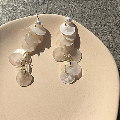 رخيصةأون أقراط-نسائي حلقات طويل السويد تويجية نبات قشرة الأقراط مجوهرات أبيض من أجل هدية مناسب للبس اليومي مهرجان 1 زوج