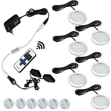 olcso Beépített LED világítás-ONDENN 1set 2 W 1200 lm 6 LED gyöngyök Tompítható Könnyű beszerelni Új design LED konyhai világítás Meleg fehér Fehér 85-265 V Gyerekszoba Konyha Nappali / ebédlő / RoHs / CE