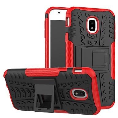 Недорогие Чехлы и кейсы для Galaxy J-Кейс для Назначение SSamsung Galaxy J3 Защита от пыли / Резервная копия Кейс на заднюю панель Полосы / волосы / броня ТПУ / ПК
