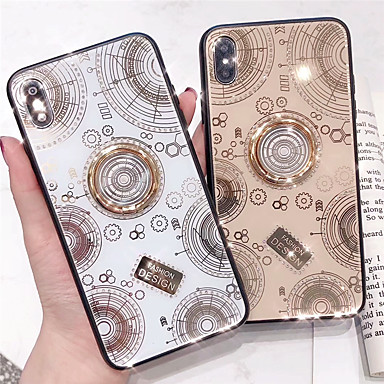 voordelige iPhone-hoesjes-hoesje Voor Apple iPhone 11 / iPhone 11 Pro / iPhone 11 Pro Max Schokbestendig / Stofbestendig / Strass Achterkant Woord / tekst / Geometrisch patroon TPU