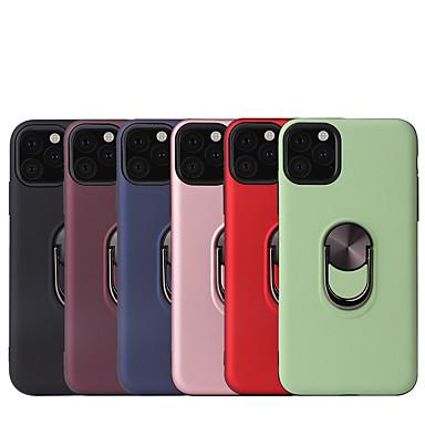 voordelige iPhone X hoesjes-hoesje voor Apple iPhone 6 / iPhone 6 plus / 7 / 7pius / 8 / 8pius / x / xr / xs max / 11/11 pro / 11 pro max schokbestendig / ringhouder achterkant effen gekleurd tpu / plastic