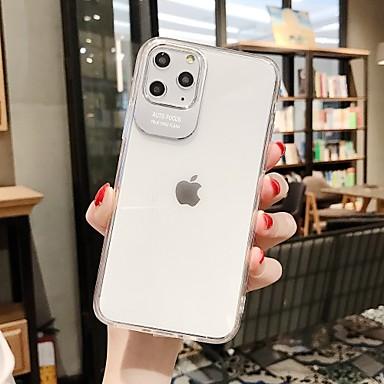 Недорогие Кейсы для iPhone-Кейс для Назначение Apple iPhone 11 / iPhone 11 Pro / iPhone 11 Pro Max Ультратонкий / Прозрачный Кейс на заднюю панель Прозрачный ТПУ