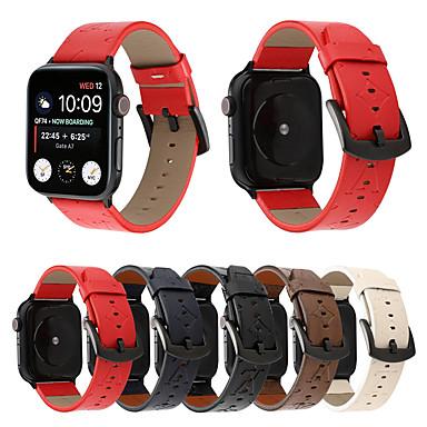 povoljno Apple Watch remeni-luksuzni narukvicu od prave kože od narukvice za jabučne satove 44mm / 40mm / 42mm / 38mm žene / muškarci satovi narukvicu za iwatch serije 4 3 2 1