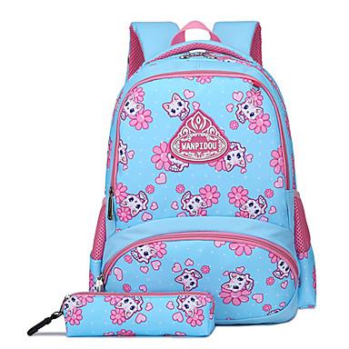 voordelige Kinderaccessoires-Grote capaciteit Nylon Rits Schooltas Cartoon School Blozend Roze / Fuchsia / blauw