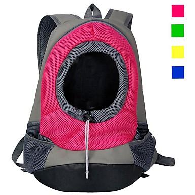 ราคาถูก อุปกรณ์เสริมสวยสำหรับสุนัข-แมว สุนัข ให้บริการ & เป้เดินทาง Cat Backpack Portable ระบายอากาศ สีพื้น ไนลอน Puppy หมาตัวเล็ก สีม่วง สีเหลือง แดง