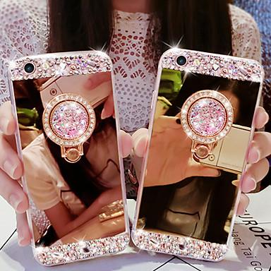 Недорогие Кейсы для iPhone 6-чехол для apple iphone 11 / iphone 11 pro / iphone 11 pro max / 7 8 plus / xs max / 6splus / 6s горный хрусталь / держатель кольца / задняя крышка зеркала сплошной акрил