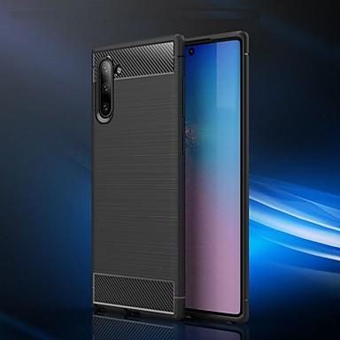 voordelige Galaxy Note-serie hoesjes / covers-hoesje voor Samsung Galaxy Note 9 / Galaxy Note 10 / Galaxy Note 10 plus schokbestendig / ultradunne achterkant effen gekleurde koolstofvezel