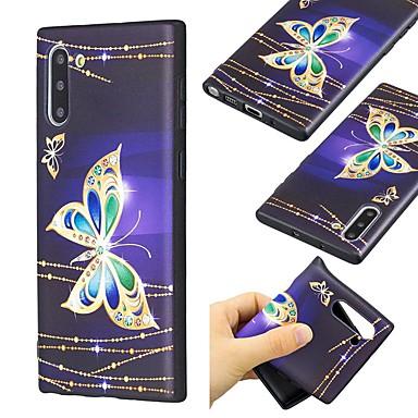 Недорогие Чехлы и кейсы для Galaxy Note-чехол для samsung galaxy note 9 / note 8 / galaxy note 10 ультратонкий / рисунок с задней крышкой бабочка тпу для samsung galaxy note 10 plus