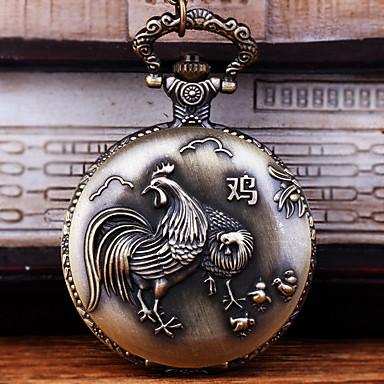 رخيصةأون ساعات الرجال-رجالي ساعة جيب كوارتز فينتاج برونز إبداعي تصميم جديد ساعة كاجوال تناظري-رقمي كاجوال - برونز