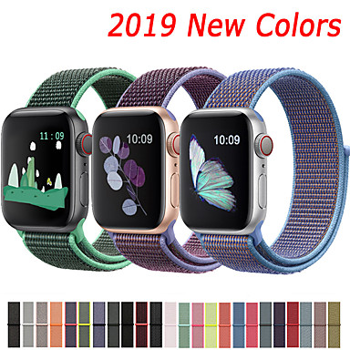 abordables Correas para Apple Watch-correa de nylon para apple watch band 44mm 40mm 42mm 38mm correa deportiva con cinturón para apple watch series 5/4/3/2/1 accesorios