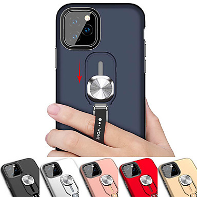 voordelige iPhone 6 hoesjes-magnetische ring standaard telefoon case voor iPhone 11 pro / iphone 11 / iphone 11 pro max schokbestendig armor back cover case voor iphone xs max xr xs x 8 plus 8 7 plus 7 6 plus 6 siliconen zachte