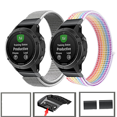 billige Smarturstilbehør-sport nylon armbåndsur til garmin fenix 6 pro / fenix 5 plus / forerunner 935 / tilgang s60 / quatix 5 hurtigudgivelse armbånd