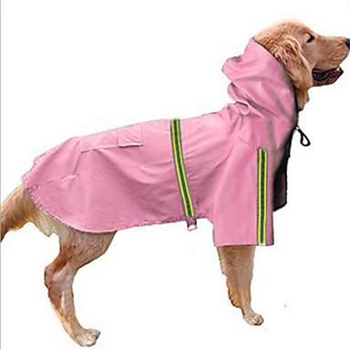 رخيصةأون ملابس وإكسسوارات الكلاب-كلب هوديس معطف المطر ملابس الكلاب فضي أحمر أزرق كوستيوم كلب كبير هاسكي لابرادور Malamute ألاسكا نايلون لون سادة مقاومة الماء ضد الرياح S M L XL XXL XXXL