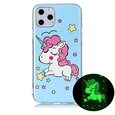 voordelige iPhone-hoesjes-hoesje Voor Apple iPhone 11 / iPhone 11 Pro / iPhone 11 Pro Max Glow in the dark / Ultradun / Patroon Achterkant dier TPU