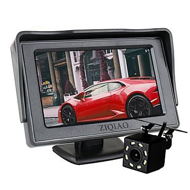 Недорогие Камеры заднего вида для авто-Ziqiao 8 светодиодных фонарей заднего вида с 4,3-дюймовым экраном