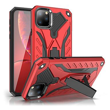 Недорогие Кейсы для iPhone 7 Plus-противоударный чехол подставка для телефона чехол для iphone 11 pro / iphone 11 pro max резиновая броня гибридный ПК жесткий чехол для iphone 11 силиконовый чехол для ТПУ