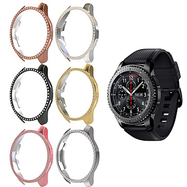 Недорогие Часы для Samsung-женщины алмаз пк защитный чехол для samsung galaxy watch 46 мм крышка легкий бампер тонкая оболочка аксессуары