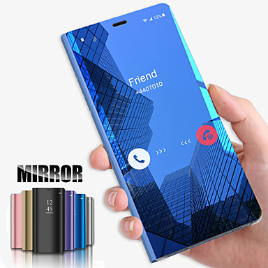 cheap Galaxy Note Series Cases / Covers-Case For Samsung Galaxy S10 S10 Plus Phone Case New Plated Mirror Phone Case for Samsung Galaxy S9 S9 Plus S8 S8 Plus Note10 Note10 Pro A10 A20 A30 A40 A50 A60 A70 A80 A90