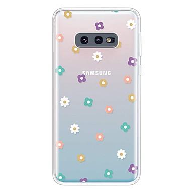 Недорогие Чехлы и кейсы для Galaxy S-Кейс для Назначение SSamsung Galaxy Galaxy S10 / Galaxy S10 Plus / Galaxy S10 E Ультратонкий / Прозрачный / С узором Кейс на заднюю панель Цветы ТПУ