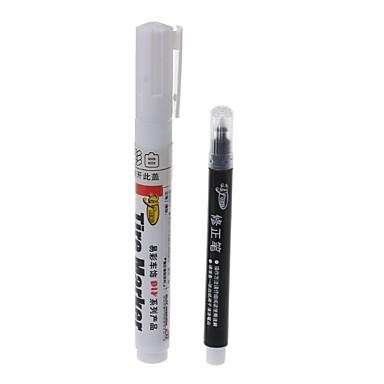 olcso Autófestő toll-1 db fehér színű állandó gumiabroncs toll az autó- és motorkerékpárhoz