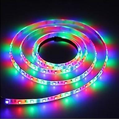 olcso RGB szalagfények-5m usb rugalmas led fénycsíkok / rgb szalagfények 300 LED smd3528 3 gomb vezérlés / 21 fényhatás / rgb vízálló / parti / dekoratív 5 v 1db