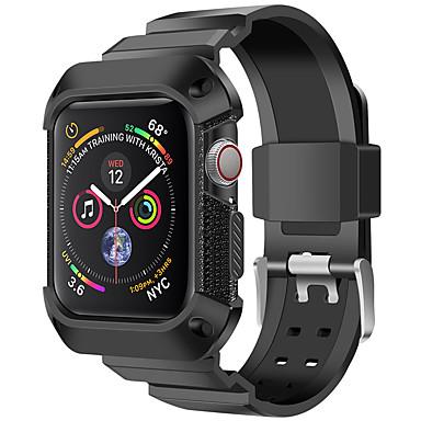 Недорогие Ремешки для Apple Watch-Ремешок для часов для Apple Watch Series 4 Apple Спортивный ремешок силиконовый Повязка на запястье