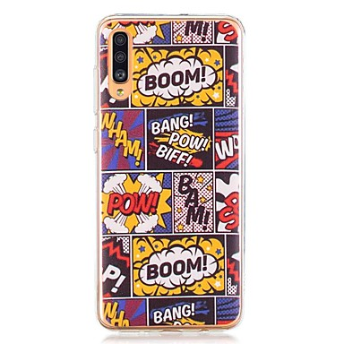 voordelige Galaxy A-serie hoesjes / covers-hoesje voor Samsung Galaxy A40 (2019) / Galaxy A50 (2019) / A70 (2019) Patroon Achterkant Comic TPU voor A10 (2019) / A20 (2019) / A30 (2019) / A8 (2018) / A7 (2018) / a6 (2018) / a5 (2017) / a3