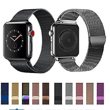 رخيصةأون أساور ساعات هواتف أبل-حزام إلى أبل ووتش سلسلة 5/4/3/2/1 Apple عقدة ميلانزية ستانلس ستيل شريط المعصم