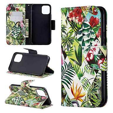Недорогие Кейсы для iPhone 6-Кейс для Назначение Apple iPhone 11 / iPhone 11 Pro / iPhone 11 Pro Max Кошелек / Бумажник для карт / Флип Чехол дерево Кожа PU