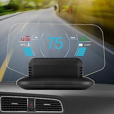 Недорогие Приборы для проекции на лобовое стекло-C1 HD цветной ЖК-дисплей автомобиля HUD Head Up Display OBD2 GPS дисплей головы