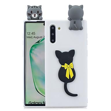 Недорогие Чехлы и кейсы для Galaxy Note-Кейс для Назначение SSamsung Galaxy Note 9 / Note 8 / Galaxy Note 10 С узором Кейс на заднюю панель 3D в мультяшном стиле ТПУ