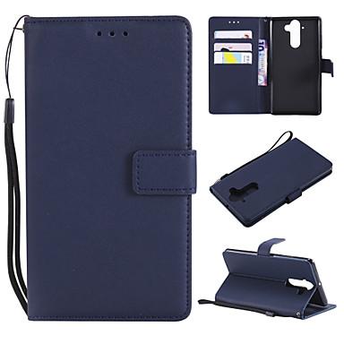 Недорогие Чехлы и кейсы для Nokia-Кейс для Назначение Nokia Nokia 9 / Nokia 8 / Nokia 6 Кошелек / Бумажник для карт / Флип Чехол Однотонный Кожа PU / ТПУ