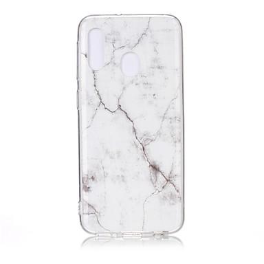 رخيصةأون حافظات / جرابات هواتف جالكسي A-غطاء من أجل Samsung Galaxy A6 (2018) / Galaxy A7(2018) / A8 2018 نحيف جداً / نموذج غطاء خلفي حجر كريم TPU