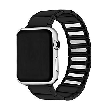 Недорогие Аксессуары для смарт-часов-Ремешок для часов для Серия Apple Watch 5/4/3/2/1 Apple Бизнес группа Нержавеющая сталь Повязка на запястье