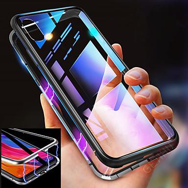 voordelige iPhone-hoesjes-hoesje voor Apple iPhone 11 11 pro 11 pro max schokbestendig magnetisch full body hoesje effen gekleurd gehard glas metaal x xs xs max xr 8 8 plus 7 7 plus
