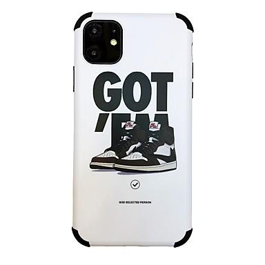 voordelige iPhone-hoesjes-hoesje Voor Apple iPhone 11 / iPhone 11 Pro / iPhone 11 Pro Max Schokbestendig / Ultradun / Patroon Achterkant Tegel / Woord / tekst TPU