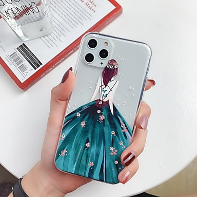 voordelige iPhone-hoesjes-hoesje Voor Apple iPhone 11 / iPhone 11 Pro / iPhone 11 Pro Max Strass / Ultradun / Patroon Achterkant Transparant / Sexy dame / Cartoon TPU