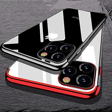 Недорогие Кейсы для iPhone 6-Кейс для Назначение Apple iPhone 11 / iPhone 11 Pro / iPhone 11 Pro Max Покрытие Кейс на заднюю панель Прозрачный ТПУ