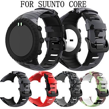 voordelige Smartwatch-accessoires-Horlogeband voor SUUNTO CORE Suunto Sportband / Klassieke gesp Silicone Polsband