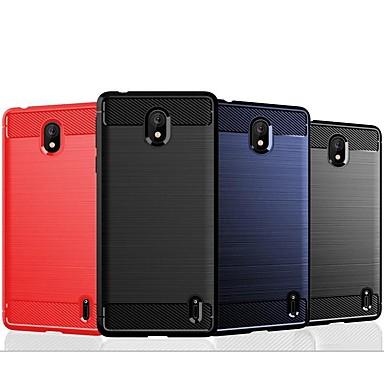 Недорогие Чехлы и кейсы для Nokia-чехол для нокиа 9 / нокиа 1 плюс / нокиа 8 сирокко противоударный / ультратонкая задняя крышка однотонная / линии / волны тпу / карбоновый чехол для нокиа 4.2 / нокиа 3.2 / нокиа х6 / нокиа х5 / нокиа