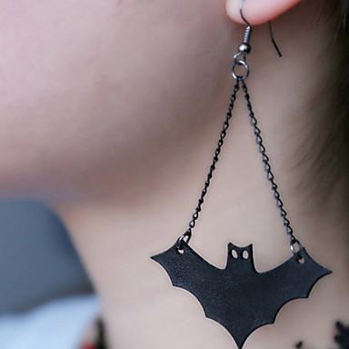 رخيصةأون أقراط-نسائي أقراط قطرة طويل خفاش كلاسيكي الأقراط مجوهرات أسود من أجل الهالووين 1 زوج
