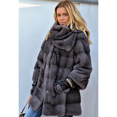 cheap Wedding Wraps-Long Sleeve Fox Fur Wedding Women's Wrap With Fur Coats / Jackets