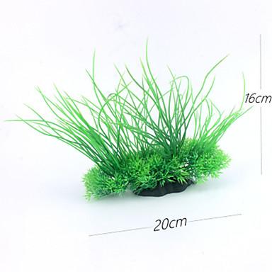 حوض سمك ديكور حوض السمك Waterproof نباتات اصطناعية نباتات زهقرنية Anacharis الزخارف نبات مائي أخضر مقاوم للماء قابل للغسيل البلاستيك بلاستيك 1 20*8.5*5.5 cm
