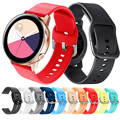 voordelige Horlogebandjes voor Samsung-sport siliconen horlogeband polsband voor Samsung Galaxy Watch 42 mm / Galaxy Watch Actief / Gear S2 Classic / Gear Sport vervangbare armband polsband