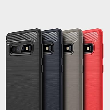 Недорогие Чехлы и кейсы для Galaxy S-чехол для samsung galaxy s10 5g / s10 plus / s10e противоударный / ультратонкий задняя крышка из цельного углеродного волокна чехол для samsung galaxy s9 plus / s8 plus / s7 edge / s9 / s8 / s7